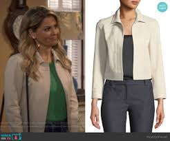 shrunken jacket by theory worn by dj tanner fuller candace cameron bure on