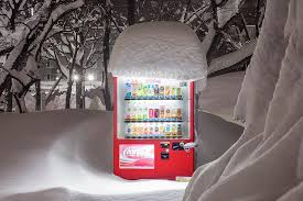 Walking Vending Machine Beauteous Japanese Vending Machines At Night Juxtaposed With A Wintry Hokkaido