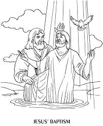 Small Picture Baptism of Jesus Coloring Page