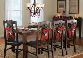 Small Picture Dining Room Chairs Decorated For Christmas Attractive Christmas