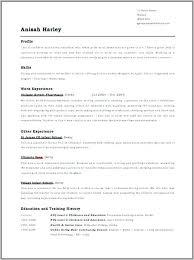 Uk Style Resume A Good Resume Example