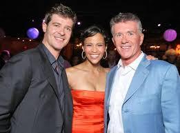 alan thicke family. Beautiful Family Robin Thicke Paula Patton Alan Thicke In Family