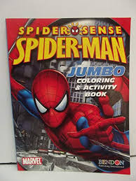 Color with markers, crayons or colored pencils. Amazon Com Spider Sense Spider Man Jumbo Coloring Activity Book Toys Games