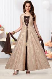 Images Of Designer Party Wear Salwar Kameez Embroiderd Cream Color Satin Designer Party Wear Salwar Kameez