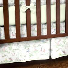 nursery rhyme toile sage crib bedding 3 piece crib set share 1