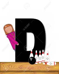 Decorated Bowling Pins The Letter D In The Alphabet Set Children Bowling Lane Is 68