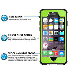 Green Light On Iphone Screen Iphone 6s 6 Plus Waterproof Case Punkcase Studstar Light