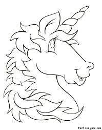 Print Out Unicorn Head Coloring Pages For Kids Crafts Unicorn