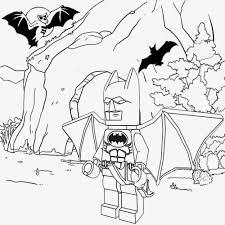 Lego Man Bat Coloring Pages