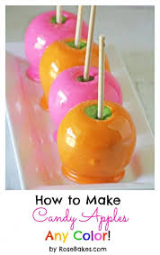 how to make candy apples any color