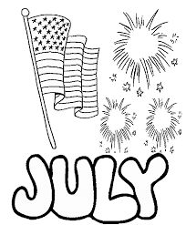 Small Picture Fourth of July Coloring Pages