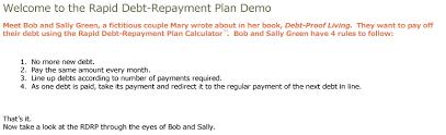 Rapid Debt Repayment Plan Debt Proof Livings Rapid Debt Repayment Plan Calculator Frugal