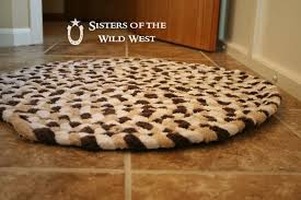 impressive braided towel rug sisters of the wild west tutorial recycling old towels