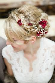 Hairstyle Tresses Coiffure Mariage Avec Tresse Fleurs