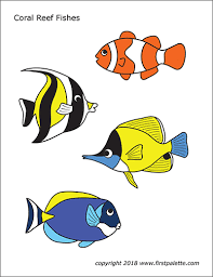 Fishing coloring pages printable arcadex me. Coral Reef Fishes Free Printable Templates Coloring Pages Firstpalette Com