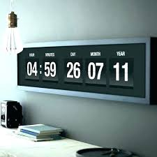 oversized digital wall clock digital wall clock giant large digital wall clock with seconds large