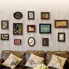 solid wood picture frame set european
