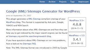 google xml sitemaps generator for wordpress