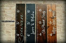 Personalized Wooden Growth Chart Wooden Wall Growth Chart Personalized Lovely Child Girl Ch