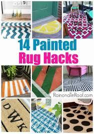 14 painted rug s home dec ideas paint rug floor diy rug