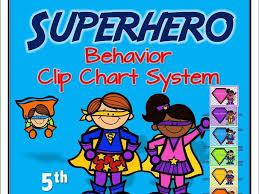 Superhero Behaviour Clip Chart System Version 5