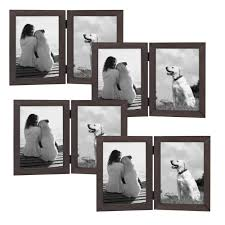 gallery 2 opening 5 in x 7 in gray picture frame set of 4