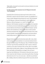 margaret atwood s the penelopiad year hsc english  topics this document covers