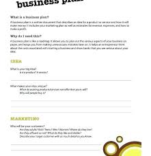 A Simple Business Plan Template Small Business Plan Template Free