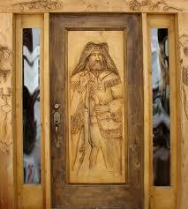wood furniture door. horn mountain living man carved door wood furniture