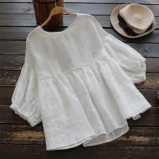 <b>2019 Plus Size ZANZEA</b> Solid Cotton Linen Loose Party Summer ...