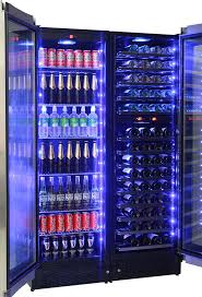 schmick upright beer and dual wine fridge triple glazed low e glass to prevent condensation