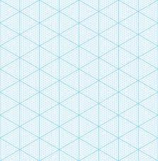 Isometric Graph Paper For 3d Design Seamless Vector Pattern
