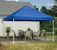 gazebo w blue canopy cover 10 foot square