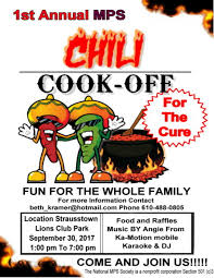 1st annual chili cook off. Interesting Off 1st Annual Chili CookOff For A Cure Intended Cook Off