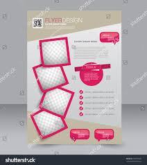 Editable Flyer Template Flyer Template Brochure Design Editable A4 Stock Vector