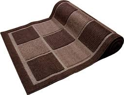 ont extra wide runner rug checd brown or cream long hallway