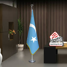 Doğu Türkistan Bayrağı - Bayrak -Ofis -Makam-Toplantı Odaları -Direkli
