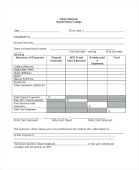 Simple Report Template Simple Expenses Template Simple Travel Expense Report Template
