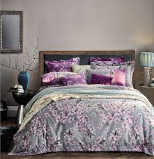 blooming cherry blossoms tree duvet cover set