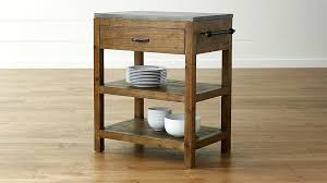reclaimed wood small kitchen island crate and barrel belmont mint