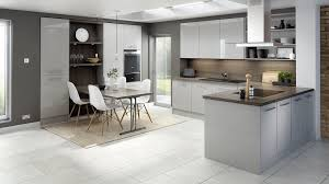 modern grey gloss kitchen cabinets ideas glossy rta light slab elegant island with seating tablecloth solid