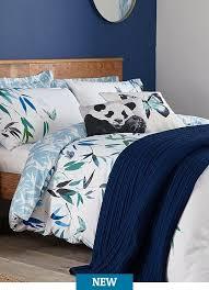 papilio white double duvet cover and pillowcase set