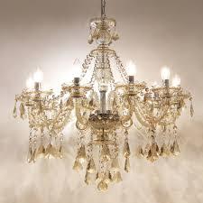 Eu Lager Kristall Kronleuchter Modern Stilvoll 10 Flammig Im Esszimmer