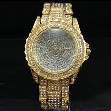 Ladies Designer Bling Watches Us 9 2 41 Off Splendid Designer Style Luxury Women Watches Gold Rhinestone Ceramic Crystal Watches Quartz Lady Dress Watch In Womens Watches From