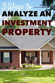 want to know how to calculate whether or not an income property is a good investment