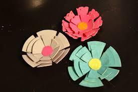 Flower Paper Mache Pretty Paper Flower Clips
