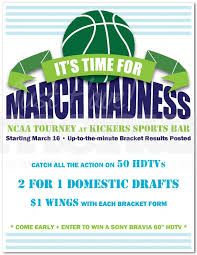 March Madness Flyer Getting Ready For March Madness Promotional Flyer Samples Uprinting