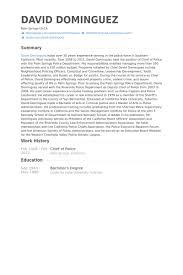 Chief Of Police Resume Samples Visualcv Resume Samples Database
