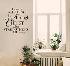 Wall Decal Quotes Stunning I Can Do All Things Through Christ Religious Wall Decal Wall Quote