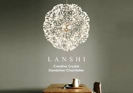 dandelion light creative crystal dandelion chandelier remote control home lighting pendant lamp ikea dandelion light uk